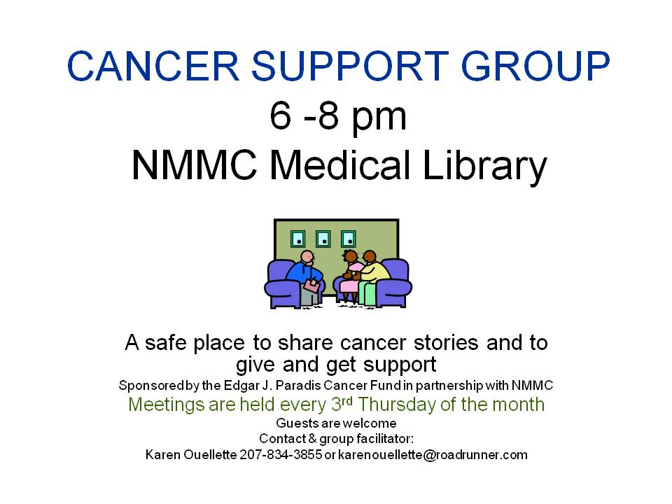 CANCER SUPPORT GROUP flyer monthly generic