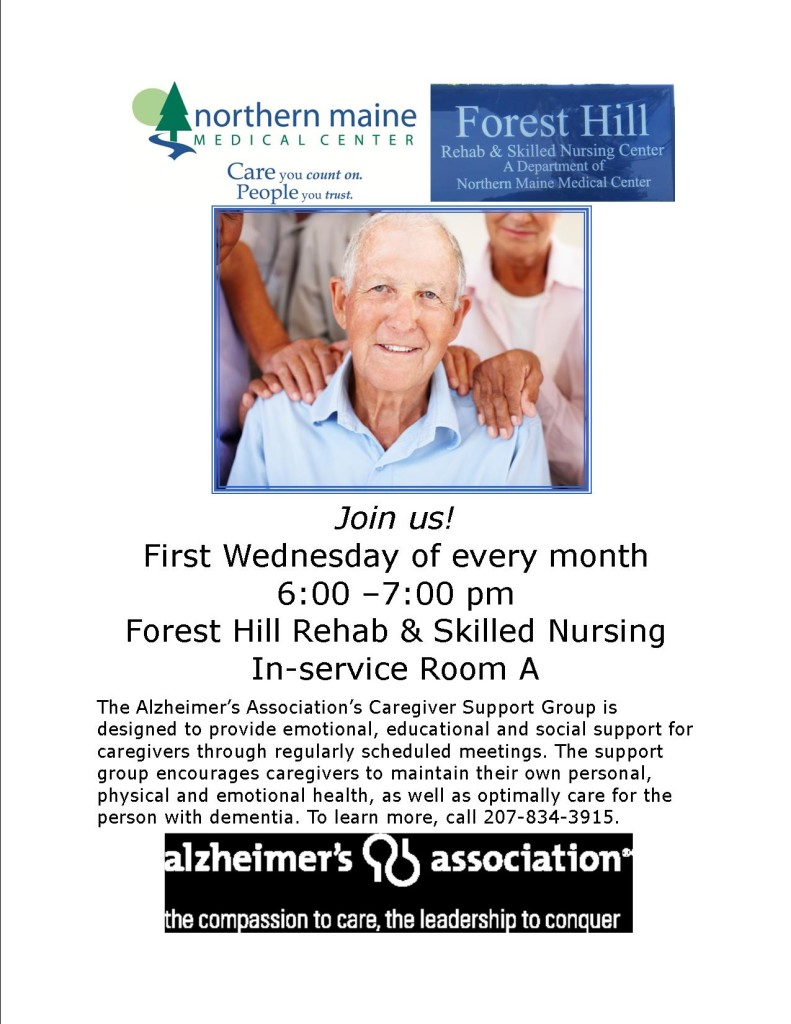 Monthly support group flyer