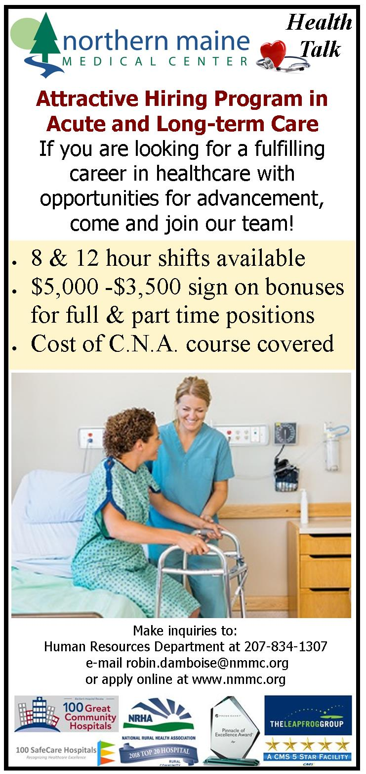 ACT TODAY for SIGN ON BONUSNorthern Maine Medical Center